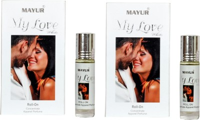 Mayur My Love White Pack Of 2 Floral Attar