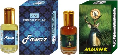 PURANDAS RANCHHODDAS PRS Fawaz & Mushk Attar 6ml Each Herbal Attar