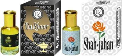 PURANDAS RANCHHODDAS PRS Bakhoor & Shah-Jahan 6ml Each Herbal Attar