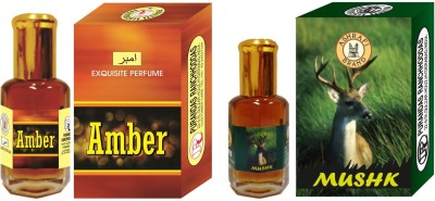 Purandas Ranchhoddas Amber & Mushk Attar 6ml Each Floral Attar