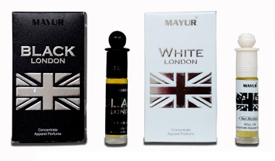 Mayur Black & White London combo Floral Attar