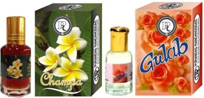 PURANDAS RANCHHODDAS PRS Gulab & Champa 12ml Each Floral Attar
