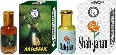 PURANDAS RANCHHODDAS PRS Mushk & Shah-Jahan 6ml Each Herbal Attar