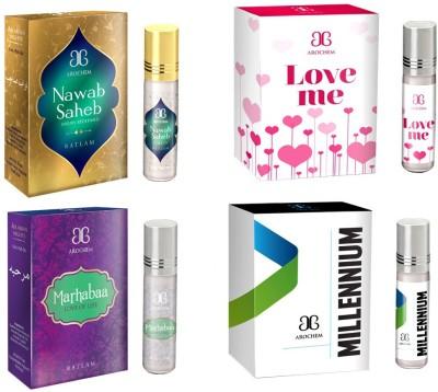 Arochem Love me Marhabaa Millennium Nawab saheb Combo Floral Attar