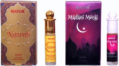 Mayur Nawab and Maadani Meraj (2pcs of 8ml) Floral Attar