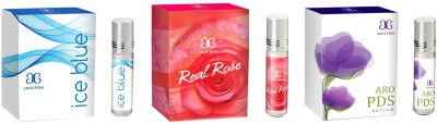 Arochem Ice blue Real rose Aro PDS Combo Floral Attar
