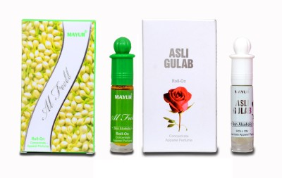 Mayur Asli Fulab and Al-Full (2pcs of 8 ml) Floral Attar