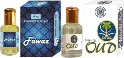 PURANDAS RANCHHODDAS PRS Fawaz & White-Oud Attar 6ml Each Herbal Attar