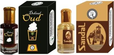 PURANDAS RANCHHODDAS PRS Sandal & Dehnal-Oud 6ml Each Herbal Attar