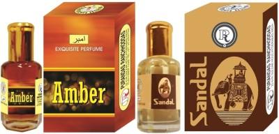 PURANDAS RANCHHODDAS PRS Sandal & Amber 6ml Each Herbal Attar