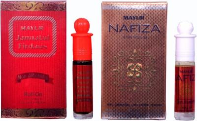 Mayur Jannat Firdaus and Nafiza (2pcs of 8ml) Floral Attar