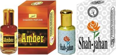 PURANDAS RANCHHODDAS PRS Amber & Shah-Jahan 6ml Each Herbal Attar