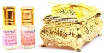 Vedanectar Lotus Pink and Sandal - 3ml each Herbal Attar
