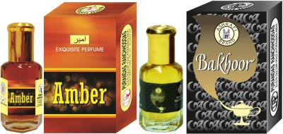Purandas Ranchhoddas PRS Amber & Bakhoor Attar 6ml Each Herbal Attar