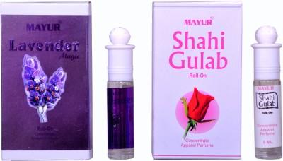 Mayur Shahi Gulab and Lavender (2pcs of 8ml) Floral Attar