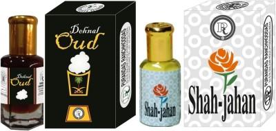 PURANDAS RANCHHODDAS PRS Dehnal-Oud & Shah-Jahan 6ml Each Herbal Attar