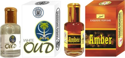 Purandas Ranchhoddas White-Oud & Amber Attar 6ml Each Floral Attar