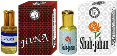 PURANDAS RANCHHODDAS PRS Hina & Shah-Jahan 12ml Each Herbal Attar
