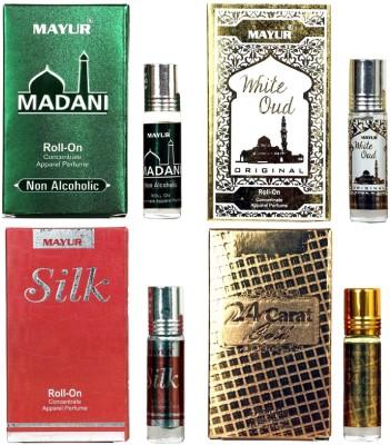 Mayur Diffrent Arabian fragrance(4pcs ) Floral Attar