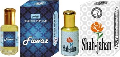 PURANDAS RANCHHODDAS PRS Fawaz & Shah-Jahan 12ml Each Herbal Attar
