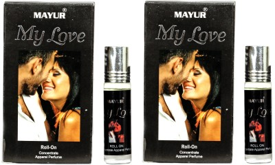 Mayur My Love attar roll on 8ml (pack of 2) Floral Attar