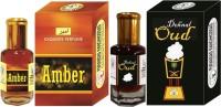 Purandas Ranchhoddas PRS Dehnal-Oud & Amber Attar 6ml Each Herbal Attar(Dehn el oud)