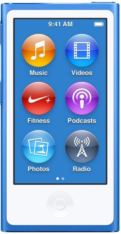Apple iPod Nano 2015 Edition 16 GB(Blue, 2.5 Display)