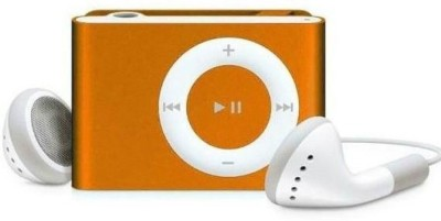 Yuvan Hq Metallic Body Shuffle Design MP3 Player(Metallic Orange, 0 Display)