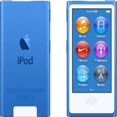 Apple iPod Nano 7th Generation,2015 Edition,A1446 16 GB(Blue, 2.5 Display)