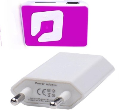 Microvelox Combo pack of mp3 player small with wall charger MP3 Player(Multicolor, 0 Display)