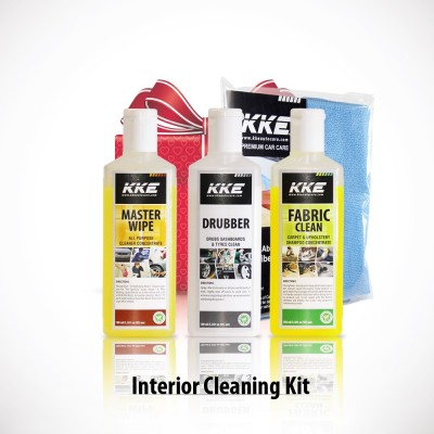 KKE 1 KKE Master Wipe, 1 KKE Fabric Clean, 1 KKE Drubbber, 1 Microfibre Towel Combo