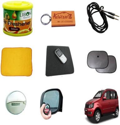 AutoKraftZ Liboni, AutoKraftZ Key, Aux cable, Micro Fiber Duster, Non Slip mat, Sunshade, Blind Spot Mirror Combo