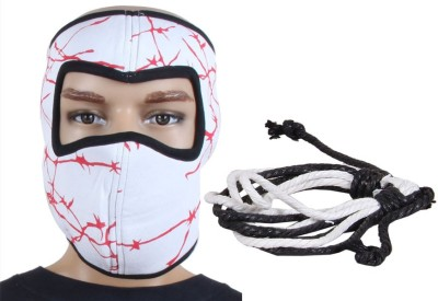 Sushito Fashion White Face Mask Combo Wrist Band Combo