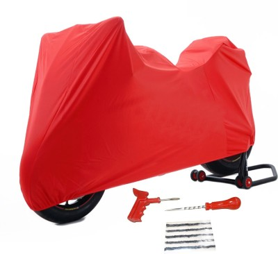 Time 1 TVS Max Red Cover, 1 With Puncture Kit Combo