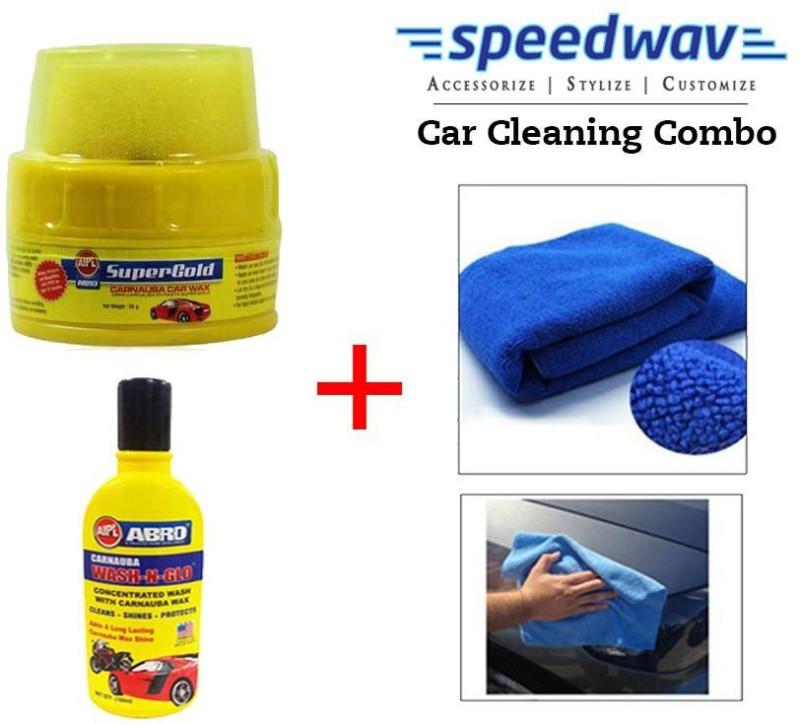 Abro 1 Car Polish, 1 AbroWaxPolish, 1 Abro Shampoo Combo