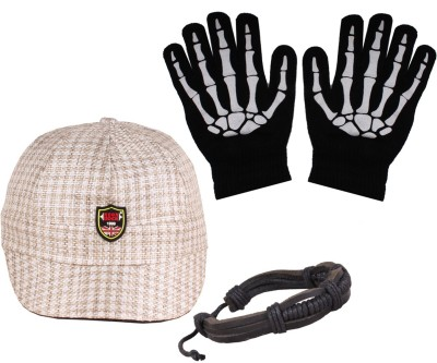 Sushito Jute In Cap & Wrist Band With Hand Gloves Combo