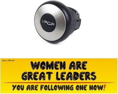 I-Pop 1 Car Bumper Sticker-Women Are Great, 1 Steering Knob-Silver Combo