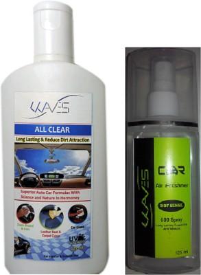 Waves 1 Multipurpose Car Cleaner 1 Car Air Freshner Combo
