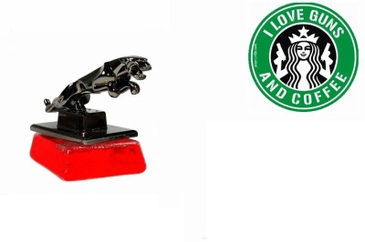 Speedwav 1 Car Bumper Sticker-I LOVE GUNS, 1 Jaguar Perfume Combo