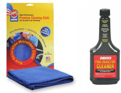 Abro 1 Fuel Injector Cleaner IC509 (354 ml), 1 Microfiber Cloth Combo