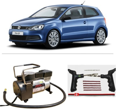 CreativeVia AutoCut-OFF Premium Metal Air Compressor With Tyre Punture Repair Kit For Volkswagen Polo Combo