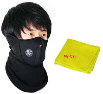 Mycar All Season Bike Face cover For Stylish Bikers Anti-pollution Mask, 39016 Microfibre Vehicle Washing Cloth Combo