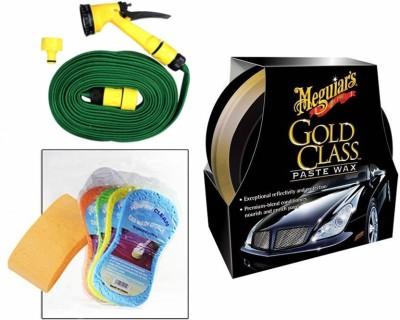 Meguiar's 1 Meguiars Gold Class Paste Wax Polish- 449gm, 1 Magic Sponge, 1 Spray Gun, 1 Spray Gun Combo