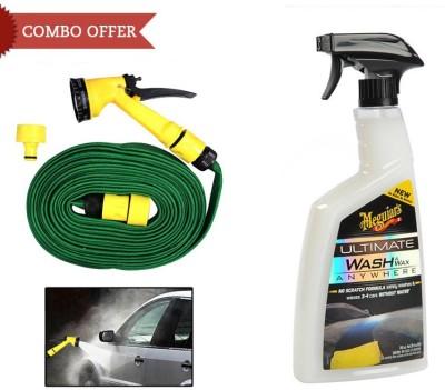 Meguiar's 1 Meguiars Car Spary Wash & Wax Anywhere-828ml, 1 Speedwav Pressure Washing Gun Combo
