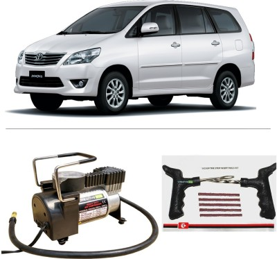 CreativeVia AutoCut-OFF Premium Metal Air Compressor With Tyre Punture Repair Kit For Toyota Innova Combo