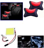 Auto Pearl 1Pcs Neck Rest Black and Red,...