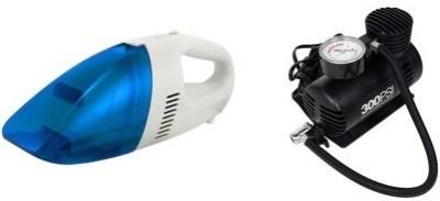 Mycar 2V DC Car Vacuum Cleaner Heavy Duty + Air Compressor Combo