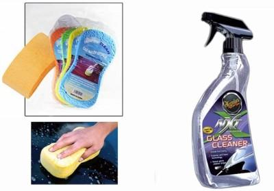 Meguiar's 1 Meguiars NXT Generation Glass Cleaner-709ml, 1 Magic Sponge Combo