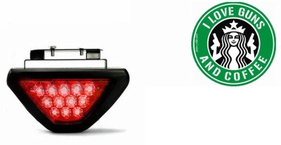 Speedwav 1 Car Bumper Sticker-I LOVE GUNS, 1 12 LED Brake Light Combo