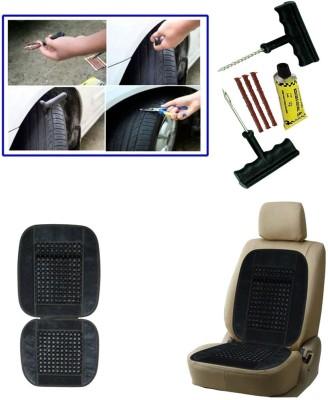 Auto Pearl 1Pcs 6 Pieces Car BikeTyre Puncture Kit, 1Pcs Bead Seat Cushion with Grey Velvet Border Combo